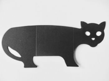 Black cat Note Card Holder  Hallowe'en